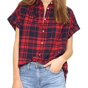 Madewell central shirt in bushwick plaid medium